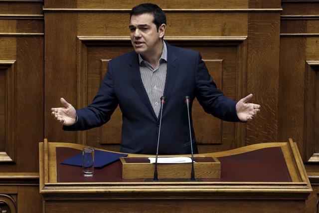 Alexis Tsipras, en el Parlamento