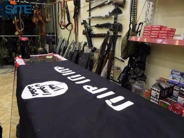 Mostrador de la tienda de Estado Islámico en Mosul