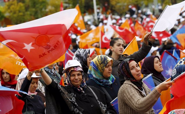 Simpatizantes del AKP en Turquía