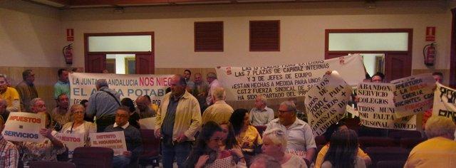 Parcelistas en el Pleno del Ayuntamiento de Córdoba