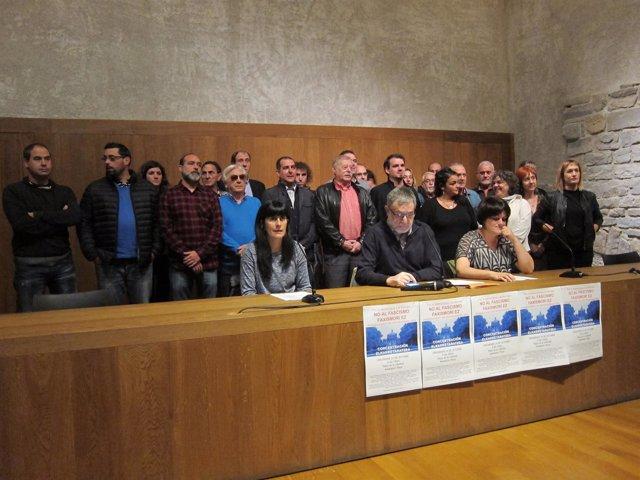 Representantes de las organizaciones convocantes de la concentración