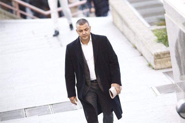 Miguel Ángel Flores a su llegada al juicio por el Madrid Arena