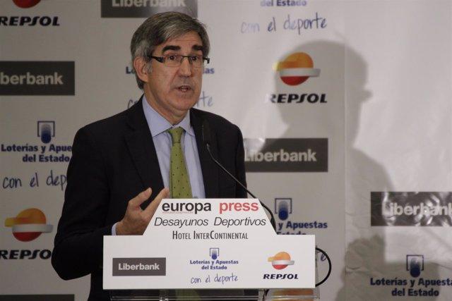 Jordi Bertomeu en los desayunos deportivos de Europa Press