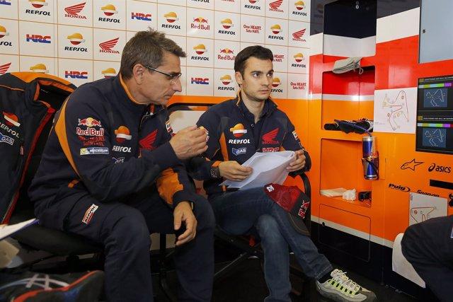 Dani Pedrosa durante los entrenamientos del Gran Premio de Jerez