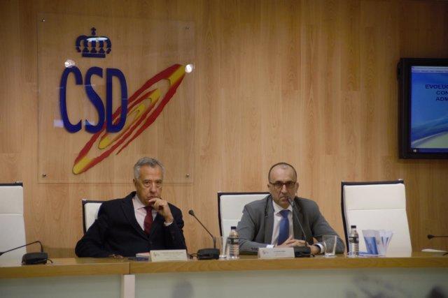 Fernando Puig de la Bellacasa y Javier Gómez presentación CSD