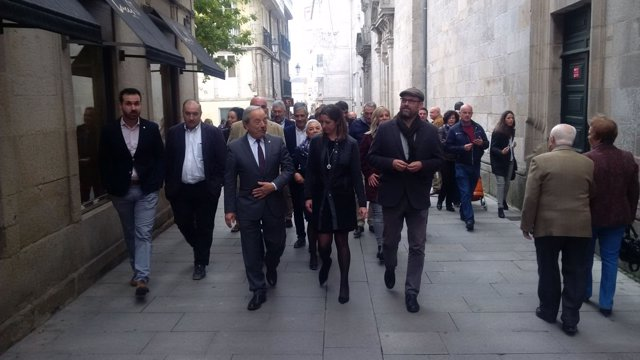Visita a Lugo del alcalde de Oviedo, Wenceslao López
