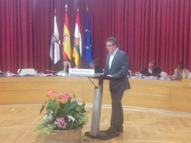 El portavoz de Ciudadanos, Julián San Martín, interviene en el Debate