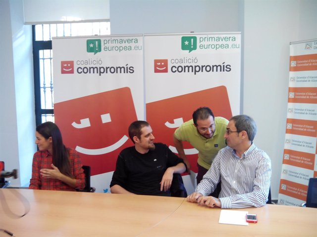 Mireia Mollà, Florent Marcellesi y Jordi Sebastià este viernes en Alicante