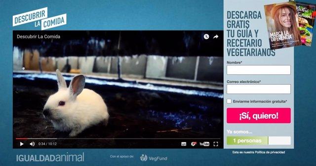 Imagen de la campaña de Igualdad Animal