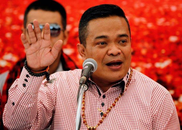 Jatuporn Prompan, uno de los principales dirigentes de 'camisas rojas'