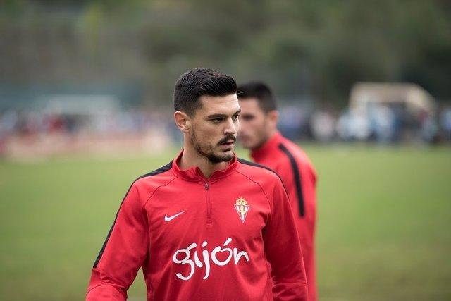 Sergio Álvarez, jugador del Sporting de Gijón