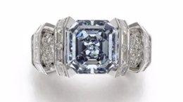 Diamante 'Sky Blue', que será subastada por la casa Sotheby's