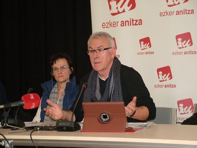 Cayo Lara e Isabel Salud.