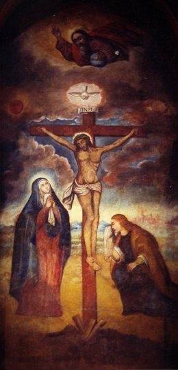 Lienzo del 'Señor de los Milagros', patrón de los peruanos.