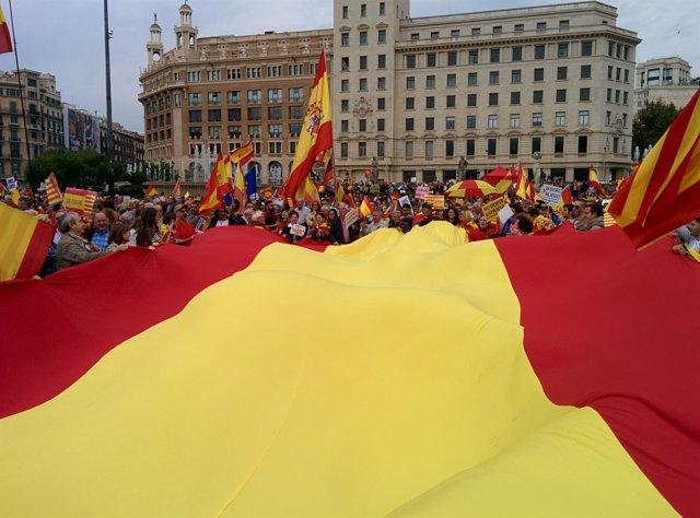 Concentración de D'Espanya i Catalans el 12-O por la Hispanidad 2016