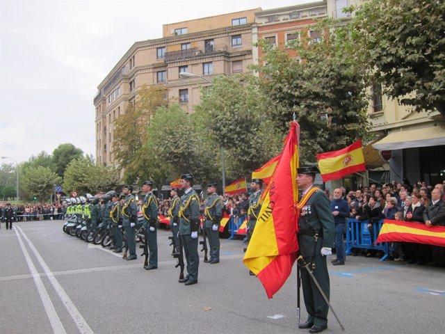 Acto en Pamplona para conmemorar la festividad de la Guardia Civil