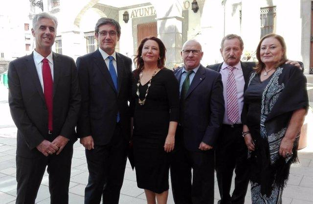 La portavoz parlamentaria del PP-A, Carmen Crespo, este miércoles en Adra