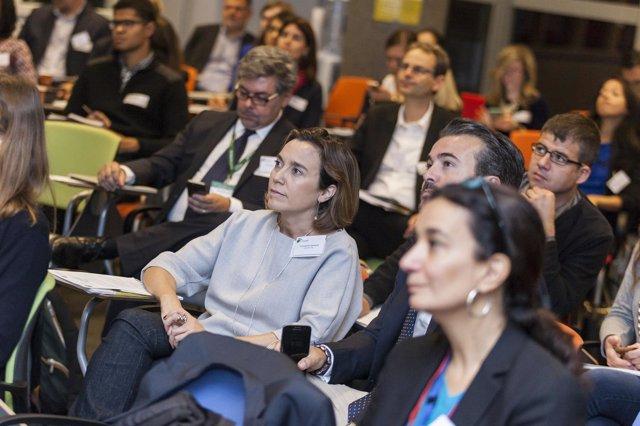 Reunión Pactos de Alcaldes a la que ha acudido la de Logroño Cuca Gamarra