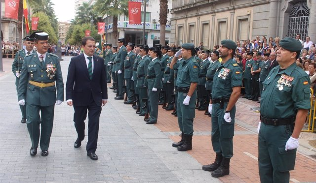 Acto del Día de la Guardia Civil en Huelva