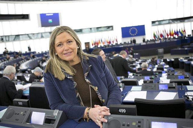 Esther Herranz, en el Parlamento Europeo