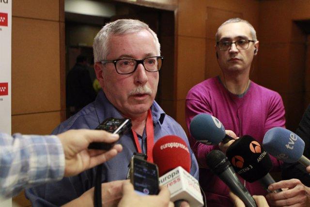 Declaraciones del secretario general de CC.OO., Ignacio Fernández Toxo,