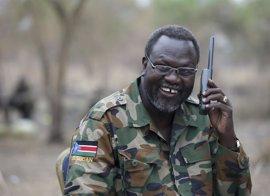 El líder rebelde sursudanés, en Sudáfrica para recibir tratamiento médico