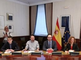 Errejón, Iglesias, Antonio Hernando y Meritxel Batet