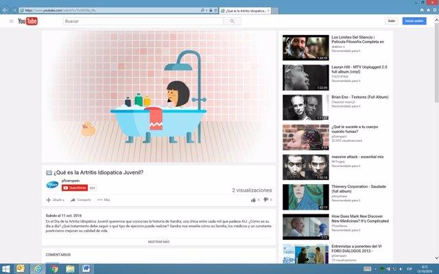 Pfizer explica en un vídeo lo que es la Artitris Idiopática Juvenil para ayudar