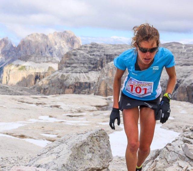Laura Orgué, atleta de carreras de montaña