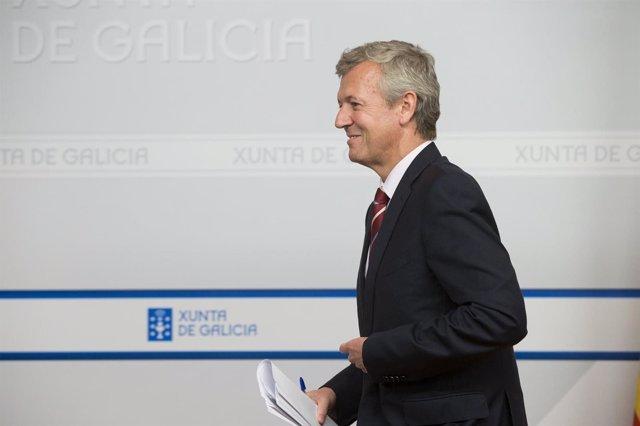Alfonso Rueda, vicepresidente en funciones, preside el Consello de la Xunta