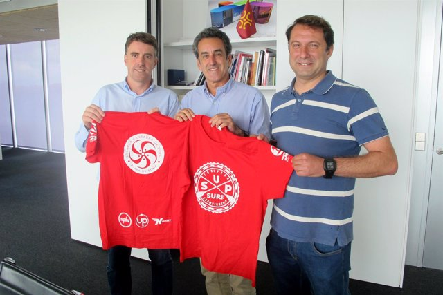 Martín recibe a los organizadores del Campeonato Europeo de Paddle Surf