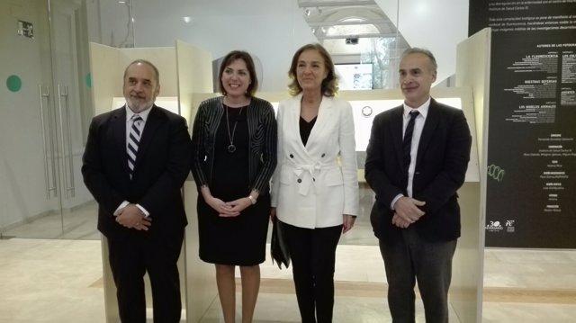 La consejera de Sanidad, Encarna Guillén, tras la conferencia de apertura