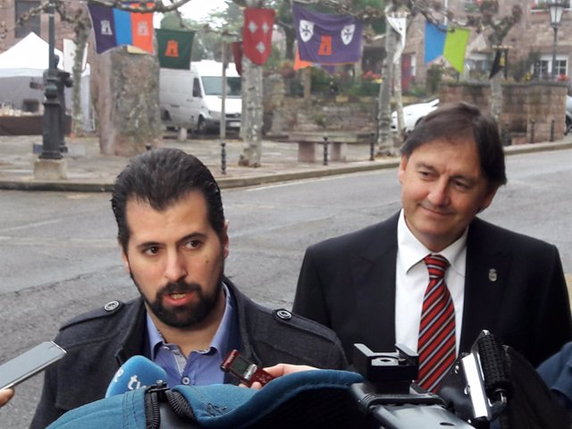 Tudanca atiende a los medios en Brañosera