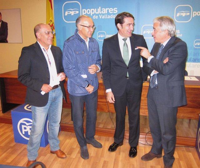 Juan Carlos Suárez-Quiñones antes de reunirse con el PP de Valladolid