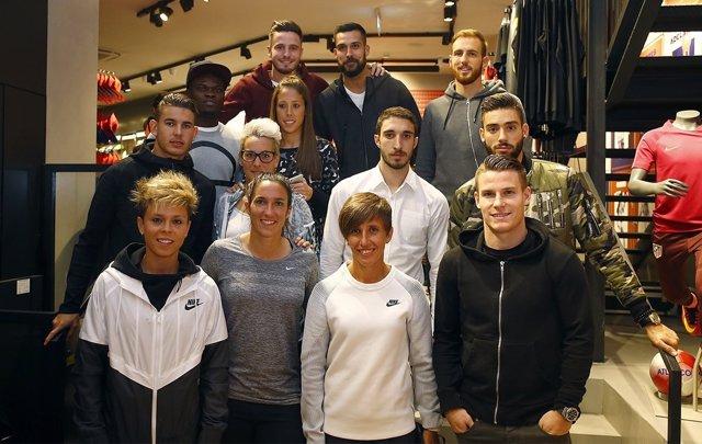 Inauguración tienda Atlético Madrid