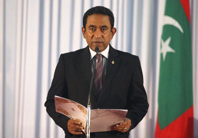 El presidente de Maldivas, Abdulá Yamin
