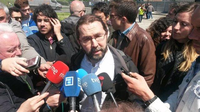 Emilio León, portavoz de Podemos en la JGPA