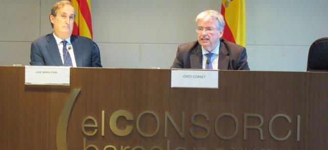 J.M.Pons (dtor del BMP) y J.Cornet (CZFB y BMP)