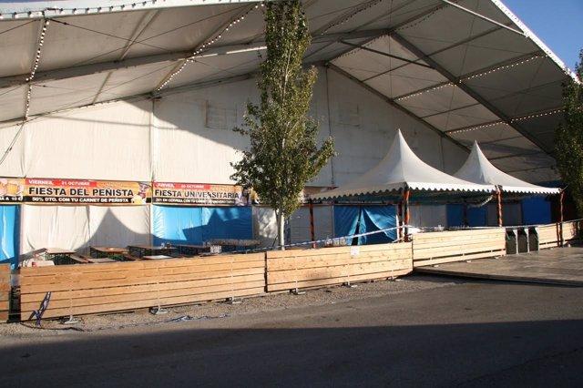 Carpa de la Fiesta de la Cerveza cerrada tras el accidente.