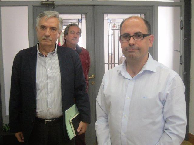 El diputado de Incendios, Artemio Domínguez junto al concejal de Seguridad Velez