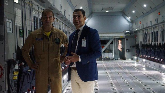 Juanma Moreno, hoy en su visita a Airbus