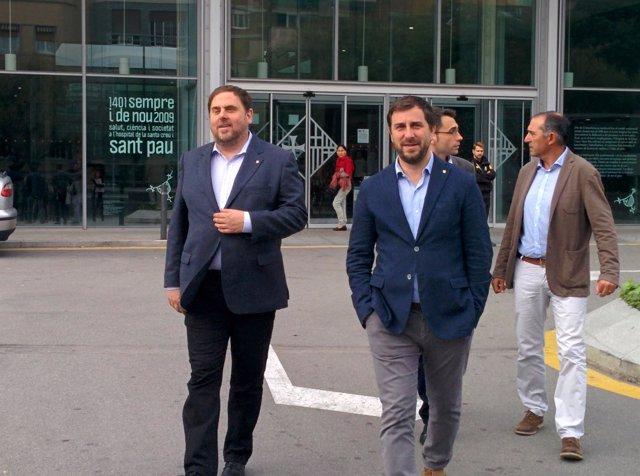 Vicepte.Generalitat Oriol Junqueras, conseller Toni Comín