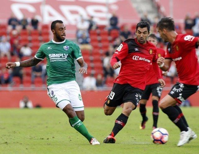 Real Mallorca en un partido de Liga