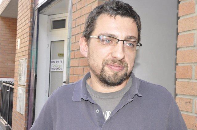 El secretario de Análisis Político de Podemos Aragon, Lorién Jiménez.