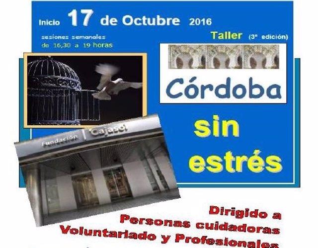 Cartel del Taller de Control de Estrés de Cajasol