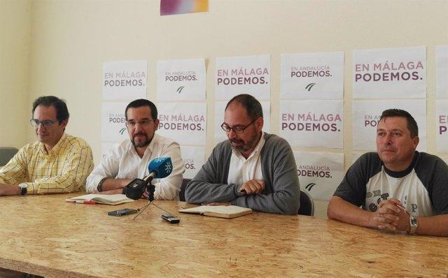 Alberto Montero, Sergio Pascual (Podmos), tabajadores de Aena y Easyjet