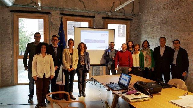 Representantes de las empresas del clúster MODACC participantes en Inter-tex