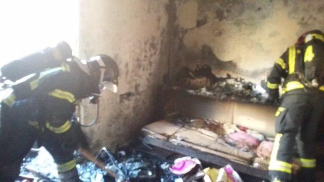 Estado de la vivienda tras el incendio