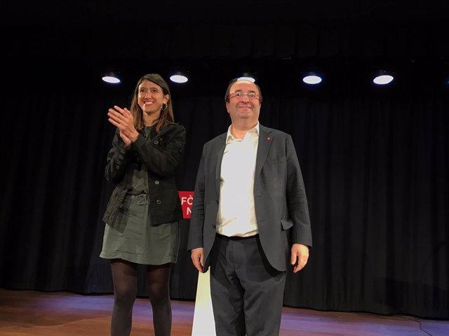 Miquel Iceta y Núria Parlon, PSC