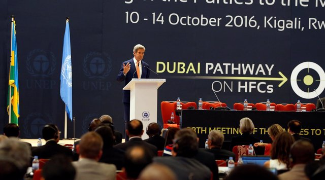 John Kerry Encuentro Protocolo Montreal Ruanda 2016